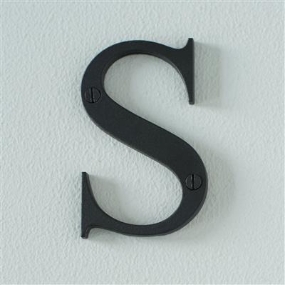 Letter S in Matt Black