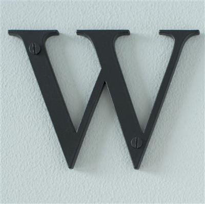 Letter W in Matt Black