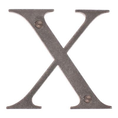 Letter X in Polished