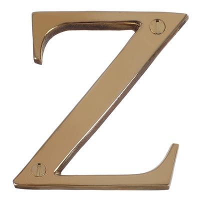 Letter Z in Polished Brass