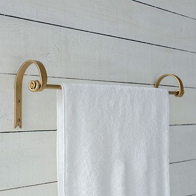 Hatton Towel Rail in Old Gold