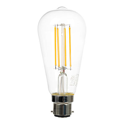 6.5 Watt BC (BA22) Squirrel Cage LED Bulb, Dimmable