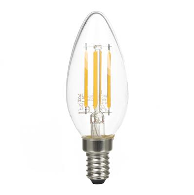 4 Watt SES (E14) LED Clear Candle Bulb