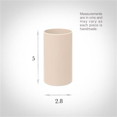 28mm dia x 50mm Ivory Candle Tube