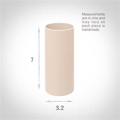32mm dia x 70mm Ivory Candle Tube