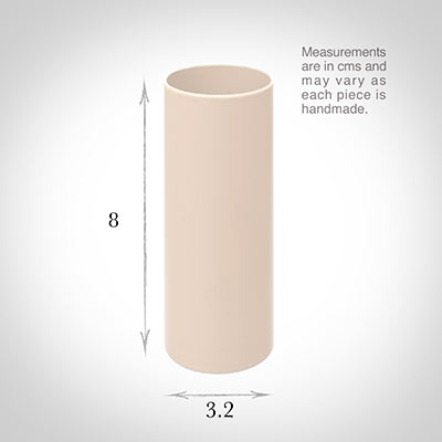 32mm dia x 81mm Ivory Candle Tube for English plastic fittings