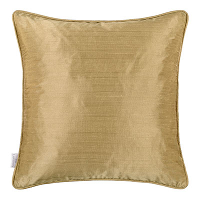 Faux Silk Cushion Cover in Dull Gold