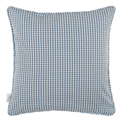 Longford Gingham Cushion Cover in Azure Blue