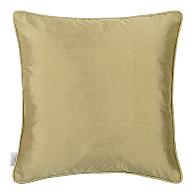 Plain Silk Cushion Cover in Antique Gold