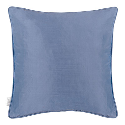 Plain Silk Cushion Cover in Slate Blue