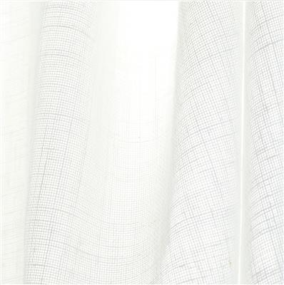 Lara Voile Fabric in White (Double Width)