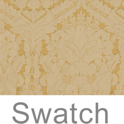 Swatch of Chatsworth Damask in Cream & Gold