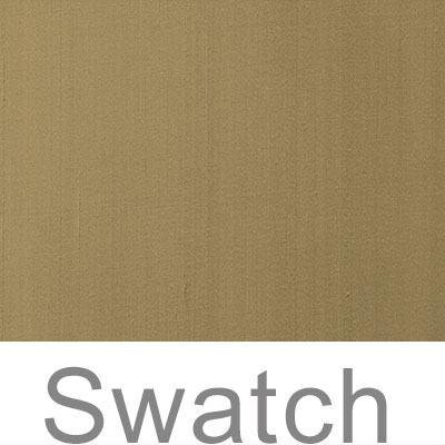 Swatch of Faux Silk in Dull Gold