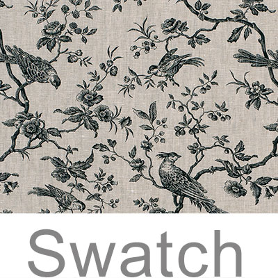 Swatch of Isabelle Linen in Black