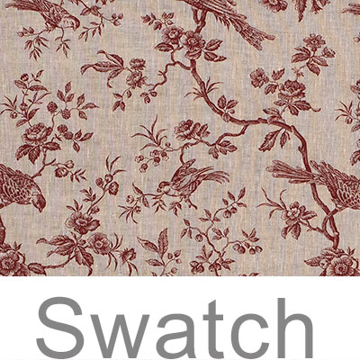 Swatch of Isabelle Linen in Red