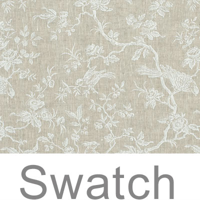 Swatch of Isabelle Linen in White