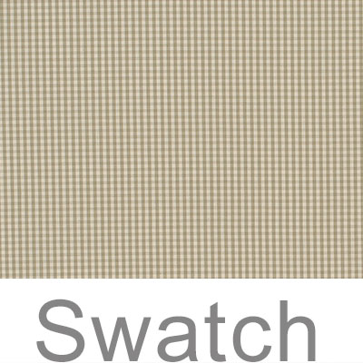 Swatch of Longford Gingham in Natural
