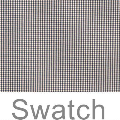 Swatch of Longford Gingham in Stone Grey