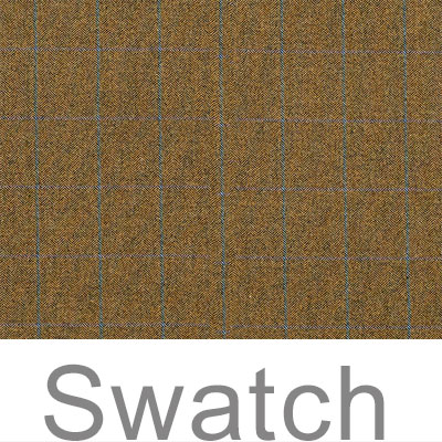 Swatch of Angus Check Lovat Wool
