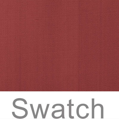 Swatch of Plain Silk Dupion in Antique Red