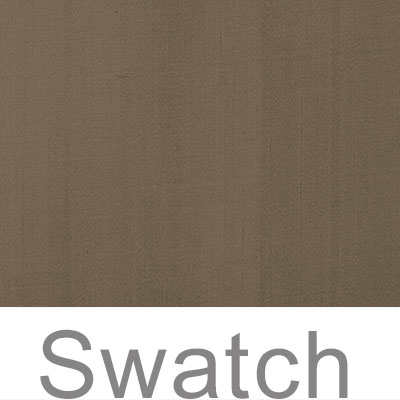 Swatch of Plain Silk Dupion in Bronze Brown