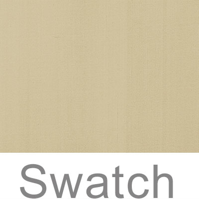 Swatch of Plain Silk Dupion in Buttermilk