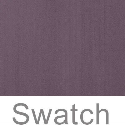 Swatch of Plain Silk Dupion in Heather