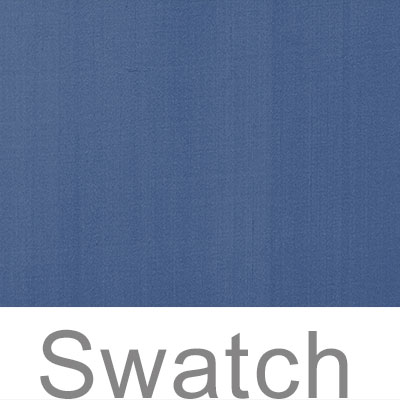 Swatch of Plain Silk Dupion in Slate Blue