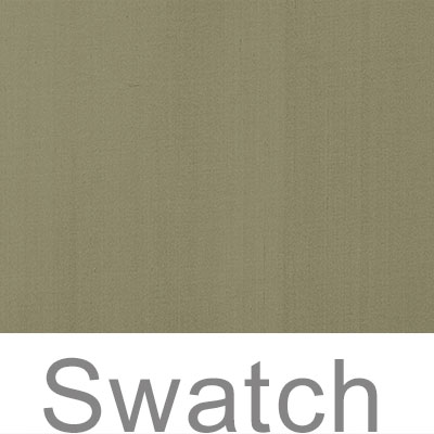 Swatch of Plain Silk Dupion in Watered Green