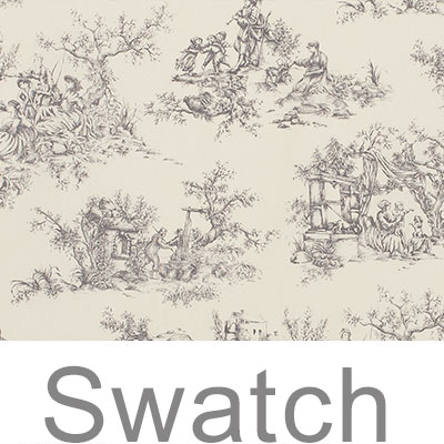 Swatch of Ash Toile de Jouy