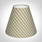 Candle Shade in Natural Gingham