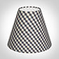 Candle Shade in Stone Grey Gingham