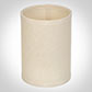 Cylinder Candle Shade in Parchment with Cream Trim