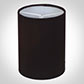Cylinder Candle Shade in Black Silk