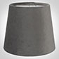 French Drum Candle Shade in Mole Hunstanton Velvet