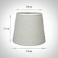 French Drum Candle Shade Soft Grey Waterford Linen