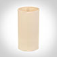 13cm Narrow Cylinder Shade in Parchment withCream Trim
