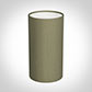 13cm Narrow Cylinder Shade in Watered Green Silk
