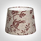 20cm Medium French Drum Shade in Red Isabelle Linen