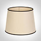 20cm Medium French Drum Shade in Parchment withBlack Trim