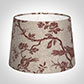 30cm Medium French Drum Shade in Red Isabelle Linen