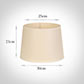 30cm Medium French Drum Shade in Parchment withCream Trim