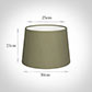 30cm Medium French Drum Shade in Watered Green Silk