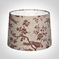 40cm Medium French Drum Shade in Red Isabelle Linen