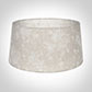 45cm Wide French Drum Shade in Natural & White Lisette Voile with Clear