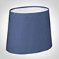 20cm Sloped Oval Shade in Slate Blue Silk (with Shade Ring)