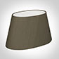 40cm Sloped Oval Shade in Bronze Brown Silk