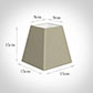 15cm Sloped Square Shade in Pale Smoke Satin