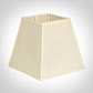 20cm Sloped Square Shade in Parchment with CreamTrim