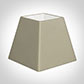 25cm Sloped Square Shade in Pale Smoke Satin